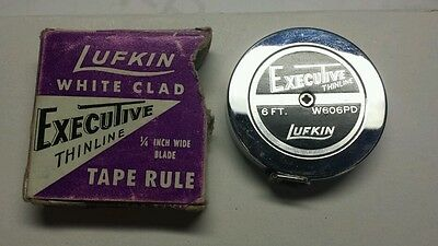 """REDUCED Vintage LUFKIN EXECUTIVE Thinline Tape Rule Measure W606 PD 1/4"""" W 6 FT"""