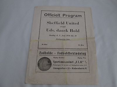1936 FRIENDLY Udv dansk HOLD v SHEFFIELD UNITED