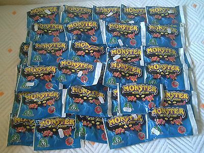 Lote De 50 Sobres Monster In My Pocket, 1990, Nuevos!! New And Sealed!!