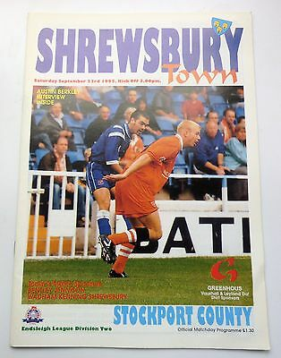 SHREWSBURY TOWN v. STOCKPORT COUNTY SECOND DIVISION 1995 GAY MEADOW