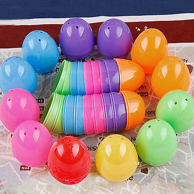 Nice 5 X Hunt Holiday Easter Halloween Plastic Eggs Bright DIY Decor Favors Toy