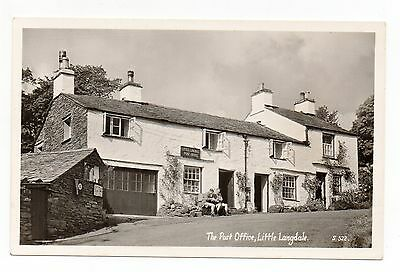 Old Postcard The Post Office Little Langdale Cumbria Lake District