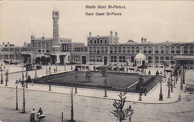 Belgium - GAND (Ghent) - Gare St-Pierre - dated 1913