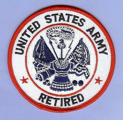 """Large Military Patch, """"U.S. Army Retired"""""""