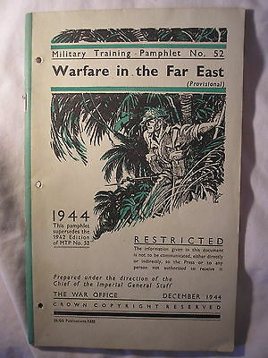 British Army Far East Jungle Warfare Manual 1944 Training Tactics Malaya Burma