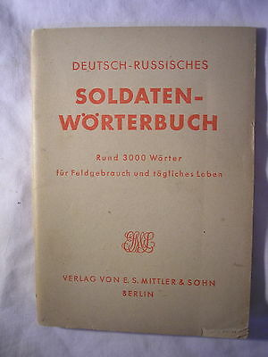 German Army Russian Language Training Manual 1942 Military History USSR