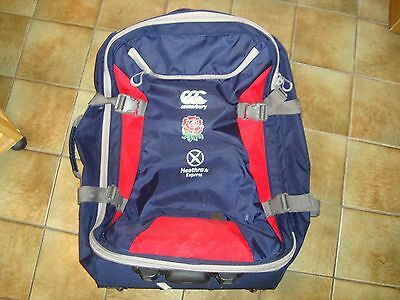 Player Issue England Rugby Canterbury Large Travel Suitcase - Wheels - Handle