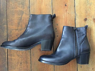 Ladies Black Paul Smith Leather Boots Size 41 UK 8