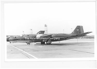 RAF 360 Sqn EECo Canberra WJ986 at Lossiemouth (1981) Vintage Photograph