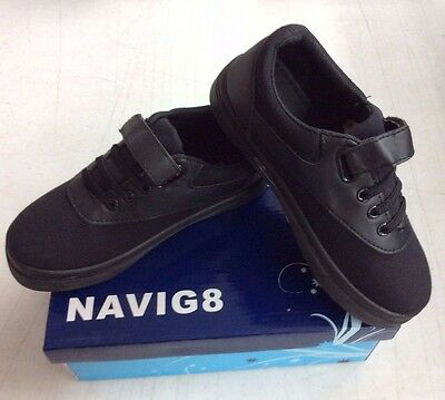 Navig8 Kid's Joy-32K Slip On Shoes - Black - Child 2 TB
