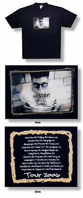 System Of A Down-NEW 2006 Concert Tour T Shirt- 2XLarge SALE FREE SHIP TO U.S!