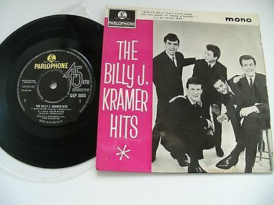 "Billy J.kramer & Dakotas E.p.""hits"".1963Parlophone+Picture Cover.4 Beatles Songs"