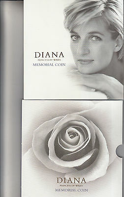 1999 Diana £5 Memorial Coin In Pack As Issued Royal Mint