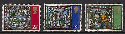 GB 1971 QE2 Christmas set of used stamps ( A1144 )