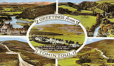 Postcard - Greetings from Tomintoul