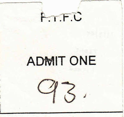 Ticket - Fleet Town v Fisher Athletic 22.08.1995