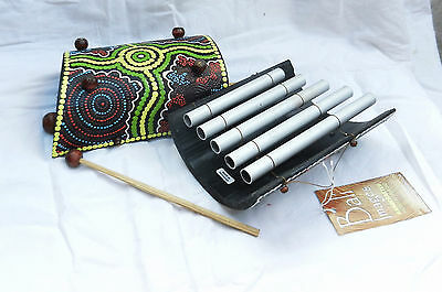 Hand Made and Painted Xylophone - Dot Painted Designs - BNWT