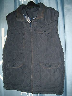 Baum Country Blue Quilted Gillet – XXL
