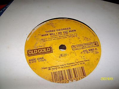 the three degrees/when will i see you again[old gold]
