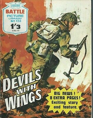 Devils With Wings,battle Picture Library,no.455,war Comic,1970,ipc