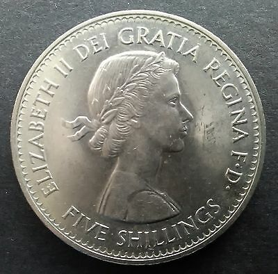 1960 CROWN coin (Queen Elizabeth II) five shillings