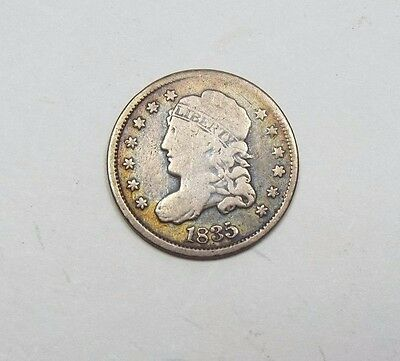 1835 Capped Bust Silver Half Dime VERY GOOD 5c