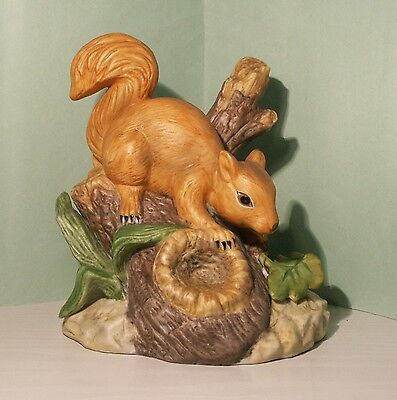 Bisque Porcelain Ornament Of A Squirrel - Perfect Condition