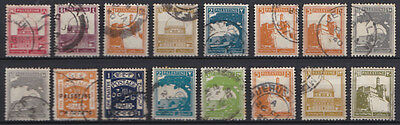 Palestine small selection of used stamps x 16