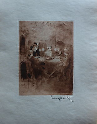 Louis Icart Original Etching Hand Signed Limited Edition Footsie 1946 Rare