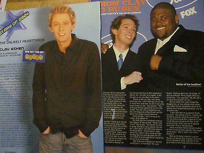 Clay Aiken, Lot of TWO Full Page Pinup Clippings