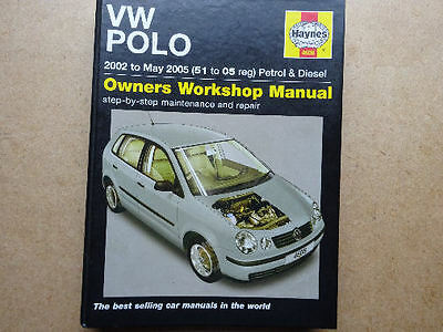 Haynes Manual, Vw Polo, 2002 - May 2005. (51 - 05 Registration) Petrol & Diesel
