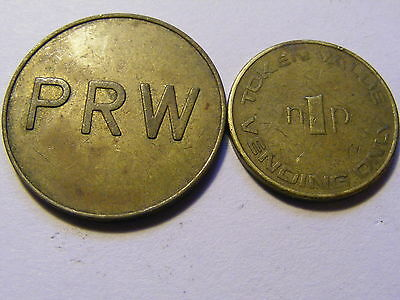 A Collection of 2 x PRW Gaming Tokens - 25mm & 20mm Dia