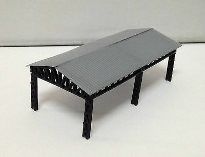Outland Models Train Railroad Large Open Shed for Station / Factory Z Gauge