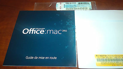 Microsoft Office Mac Home & Business 2011 Full Version for Apple. FRENCH-ENGLISH