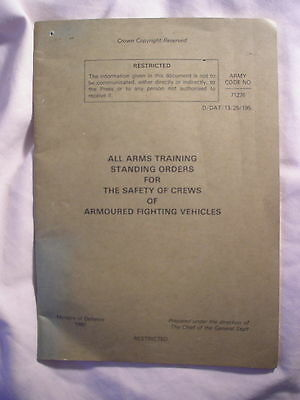 British Army AFV Military Vehicles Standing Orders Manual 1980 Cold War