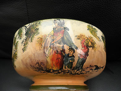 Royal Doulton SERIES WARE 'THE GLEANERS' footed bowl damaged