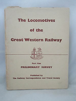Locomotives Of The Great Western Railway Part 1 Preliminary Survey Rcts