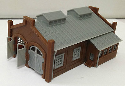 Outland Models Train Railway Locomotive Shed / Engine House (2-Stall) Z Gauge