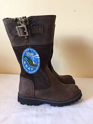 Timberland Girls Maplebrook Brown Leather Riding Boots Size 11 NEW