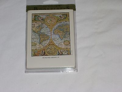 Antioch bookplates: WORLD MAP/Lot of 15/NEW/Great Shape