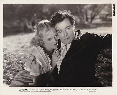 PAT PATERSON NILS ASTHER Original Vintage 1934 LOVETIME Fox Studio Photo