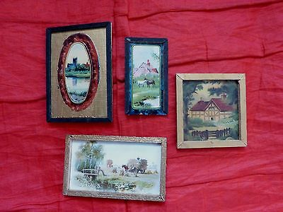 Dolls' House Miniatures - 4 X Framed Pictures