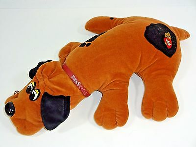 """Vintage - Tonka 18"""" Brown with Black spots Pound Puppies w/ COLLAR - 1985"""