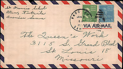 Two Prexies on cover from Samoa 1953