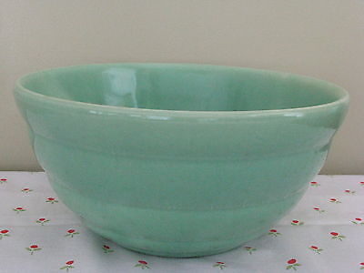 "Vintage BEEHIVE Bauer mixing bowl #12 green 9½"" x 4 5/8"""