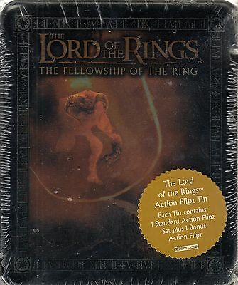 Lord Rings Fellowship Of The Ring 2003 Collectible Action Flipz Tin & Set Balrog