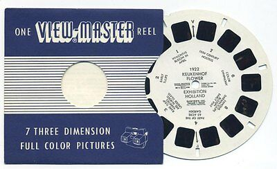 Keukenhof Flower Exhibition Holland RARE 1950's ViewMaster Single Reel 1922