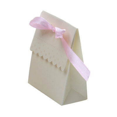 100x Beige Bags Boxes for Wedding Favor Sweet Candy Gift Baby Shower Party
