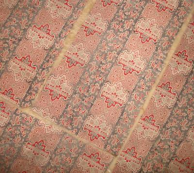 BEAUTIFUL FRAGMENTS 19th CENTURY FRENCH FINE PAISLEY COTTON, ref, PROJECTS