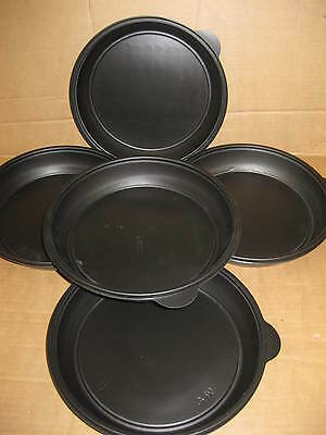 140 BLACK ROUND DISHES PLASTIC WATER BOWL FOOD 32oz SWEETS JOB LOTS WHOLESALE